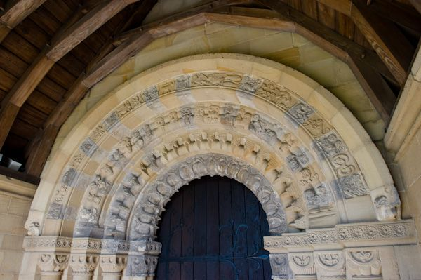 Bishop Wilton, St Edith's Church photo, Norman doorway arch