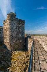 Blackness Castle, The wall walk