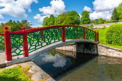 The Chinese Bridge in the walled garden