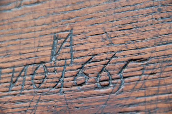 Blythburgh, Holy Trinity Church photo, 17th century graffiti