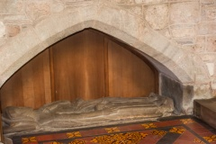 14th century effigy in the sanctuary