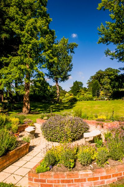 Bodrhyddan Hall photo, A formal garden area