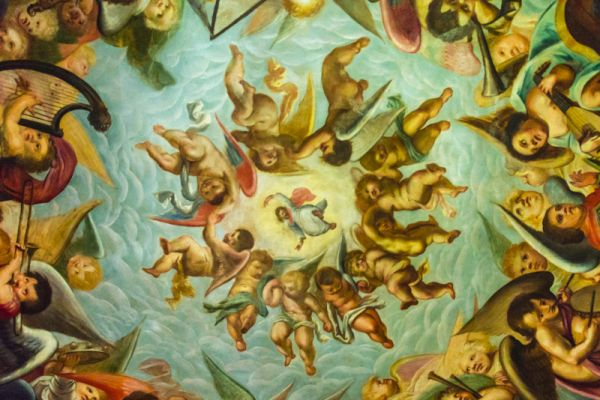 Bolsover Castle photo, Ceiling of the Heaven Rooom, 1619