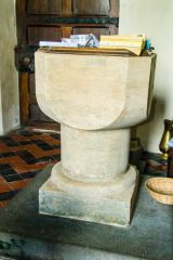 Bosherston, St Michael and All Angels, A simple Norman font