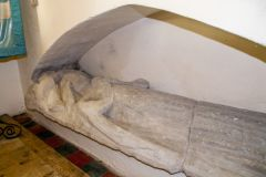 Bosherston, St Michael and All Angels, Dowager Duchess of Buckingham effigy