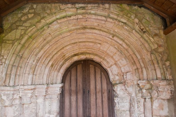 Bossall, St Botolph's Church photo, 12th century doorway arch