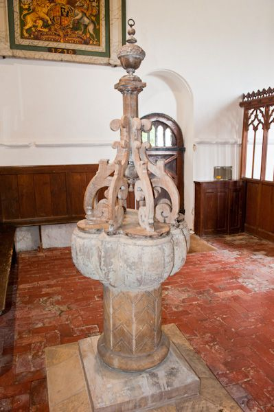 Bossall, St Botolph's Church photo, Transitional font