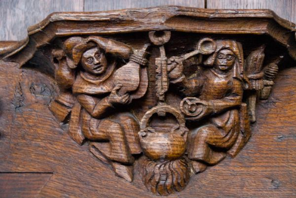 Boston photo, Medieval misericord, Boston Stump
