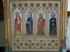 The parish church's early 16th century rood screen (c) Trish Steel