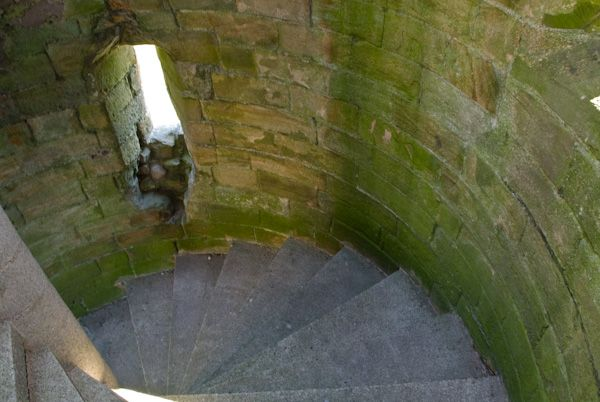 Bowes Castle photo, Spiral stair
