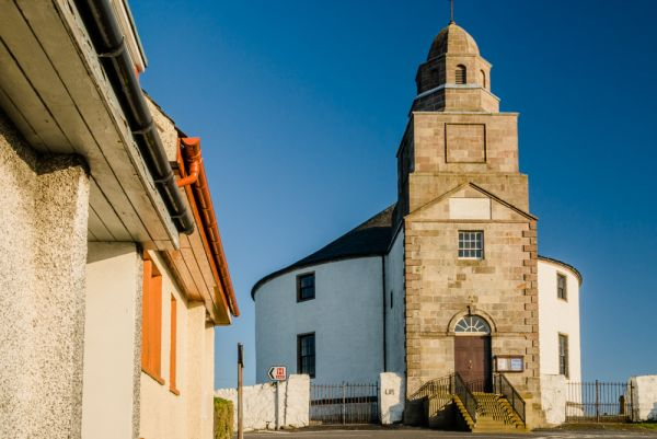 Bowmore Round Church photo, The view from Main Street