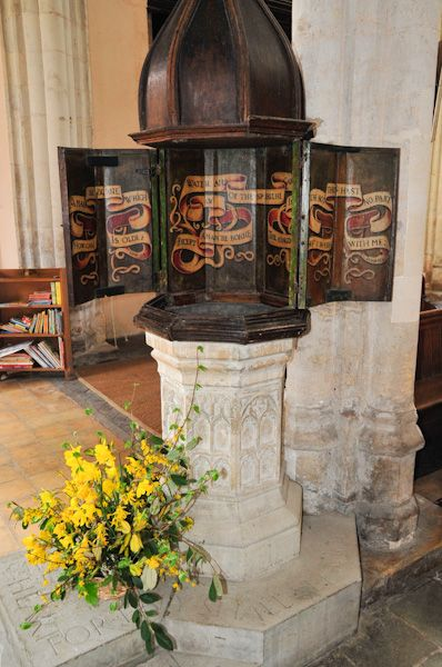 Boxford, St Mary's Church photo, Font