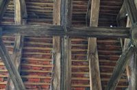 North porch timber roof