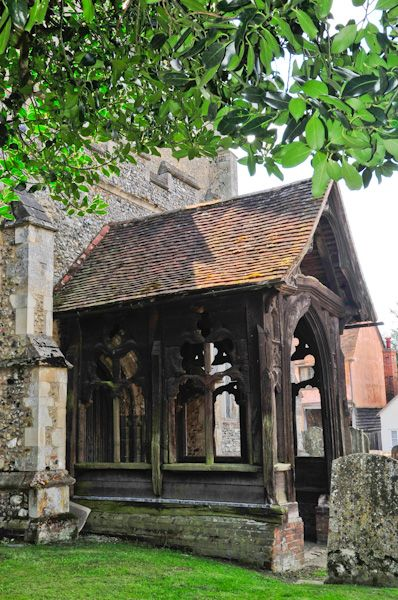 Boxford, St Mary's Church photo, Timber north porch
