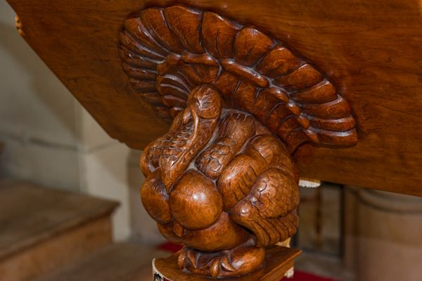 Boynton, St Andrew's Church photo, Turkey lectern 2