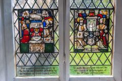 Armorial glass panels