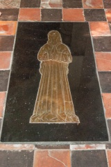 Brass of Lady Clifton in the Scott Chapel