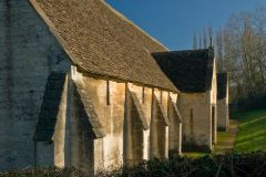 The medieval tithe barn