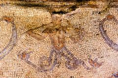 A merman mosaic in the Audience Chamber