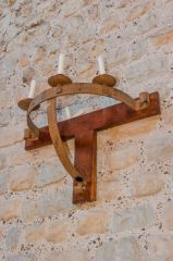 Candle bracket, north wall