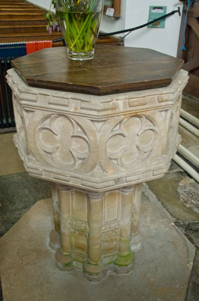 Bramfield, St Andrew's Church photo, Font