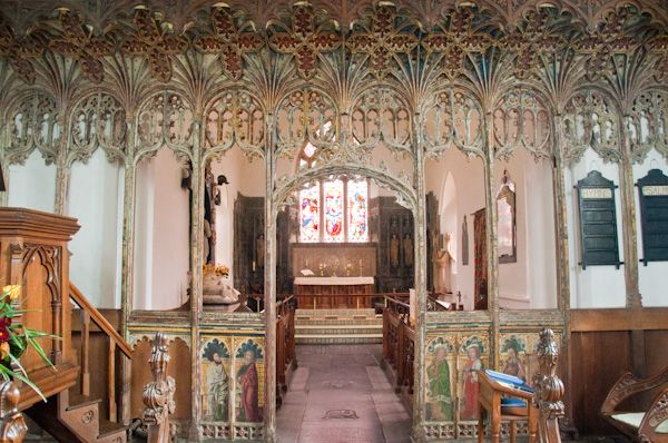Bramfield, St Andrew's Church photo, Elizabethan rood screen