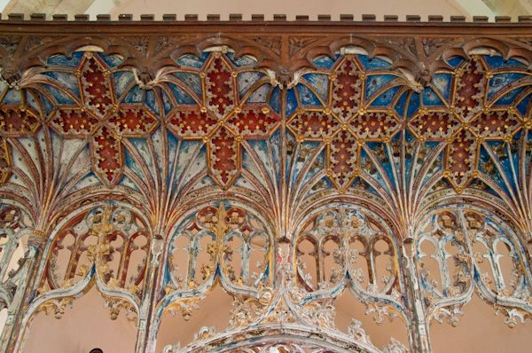 Bramfield, St Andrew's Church photo, Rood screen canopy