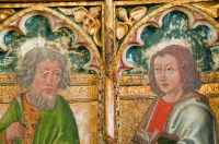 Rood screen painting