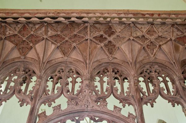 Bramfield, St Andrew's Church photo, Carved screen canopy