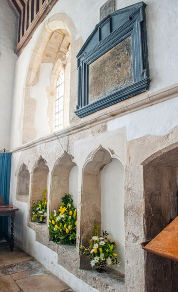 Branscombe, St Winifred's Church photo, The 14th century triple sedilia
