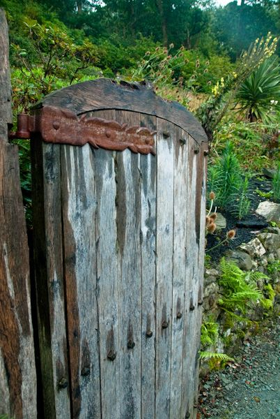 Brantwood photo, A rustic garden gate