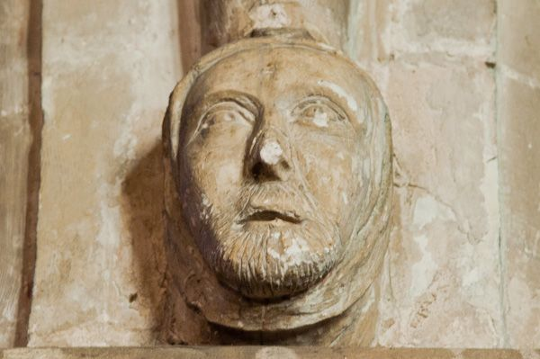 Bray, St Michael's Church photo, Carved head on nave column