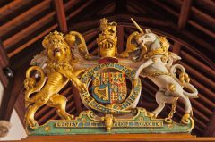 Gilded royal coat of arms