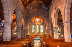 Brechin Cathedral, Looking up the cathedral nave