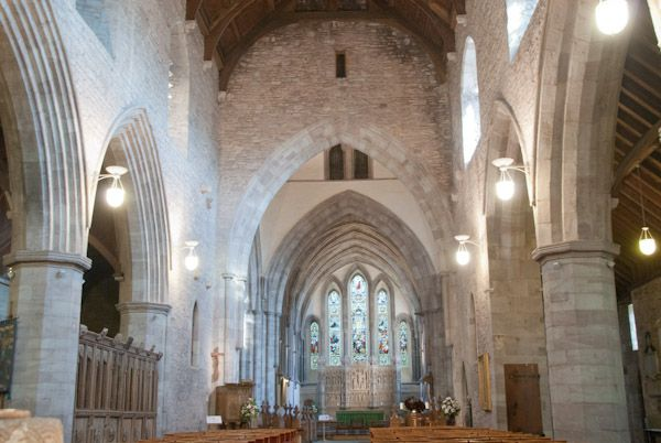 Brecon Cathedral photo, The abbey interior