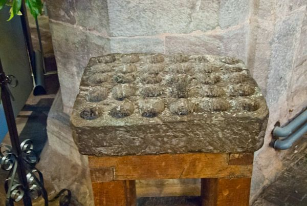 Brecon Cathedral photo, The cresset stone