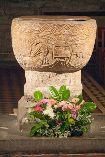 Brecon Cathedral photo, Another view of the font
