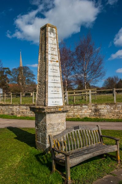Bredon photo, Unusual milestone on the village green