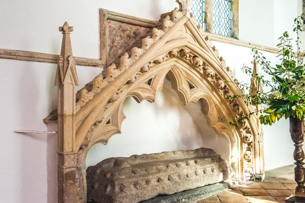 Bredon, St Giles photo, The 14th century Easter Sepulchre