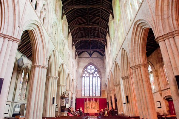Bridlington Priory photo, Looking down the nave