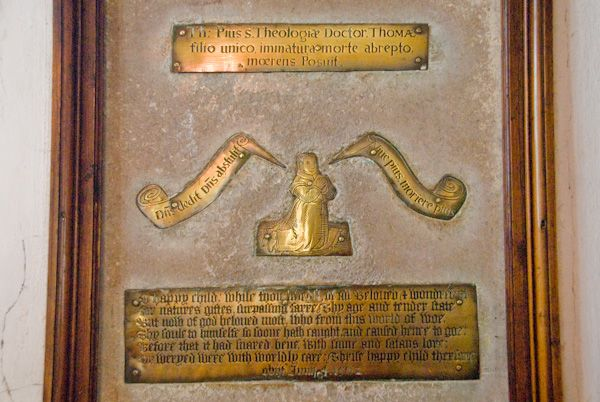 Brightling, St Thomas a Becket Church photo, Thomas Pye Memorial brass