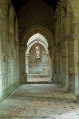 Priory church aisle