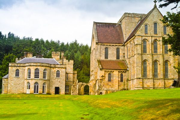 Brinkburn Priory photo, Church and manor house together