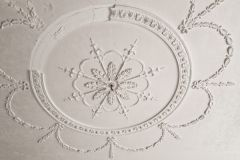 Plaster ceiling in the manor house