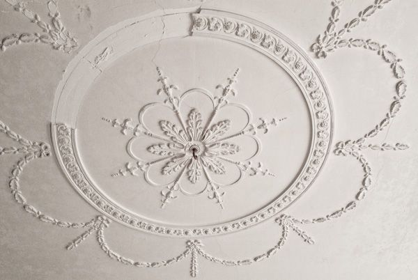 Brinkburn Priory photo, Plaster ceiling in the manor house