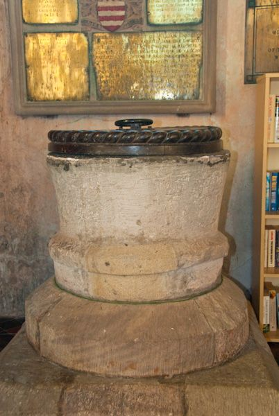 Brinsop, St George's Church photo, Norman font