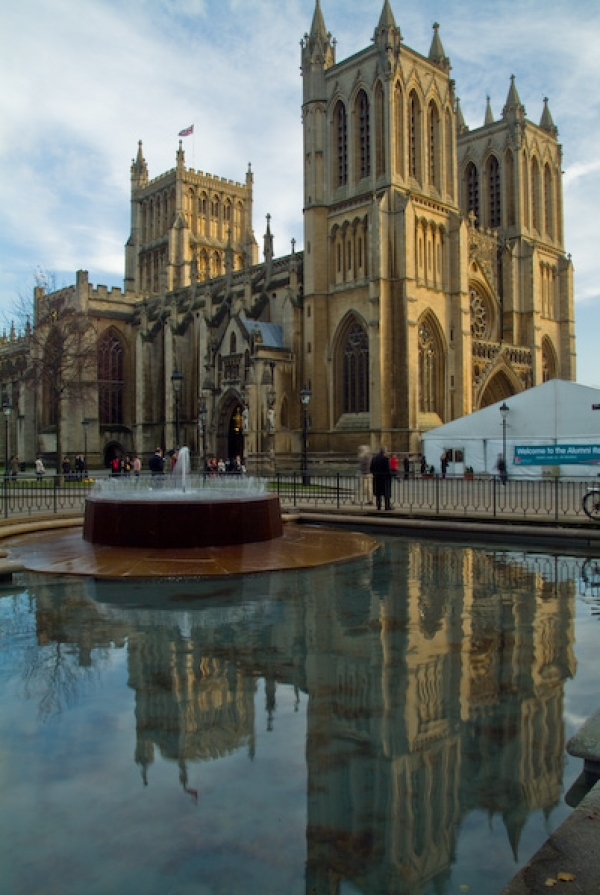 Bristol Cathedral photo, Cathedral reflections