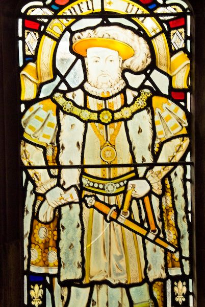 Bristol Cathedral photo, Henry VIII stained glass