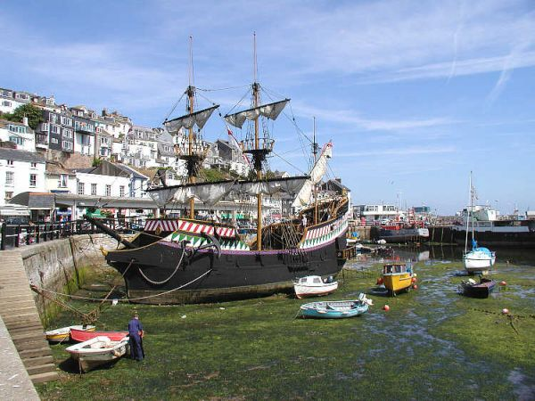 Brixham photo, Replica of the Golden Hinde in Brixham harbour (c) Arpingstone