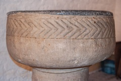 Font bowl decorative carving